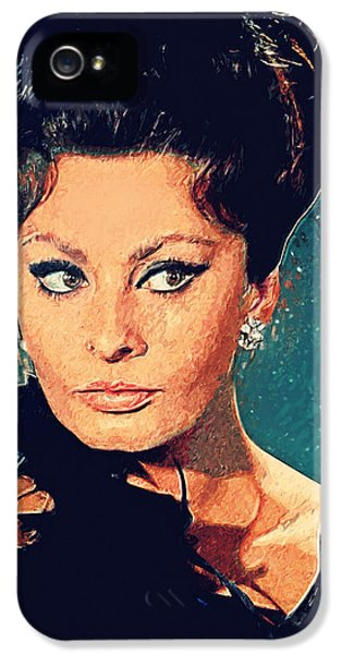 Sophia Loren IPhone 5s Case by Taylan Apukovska