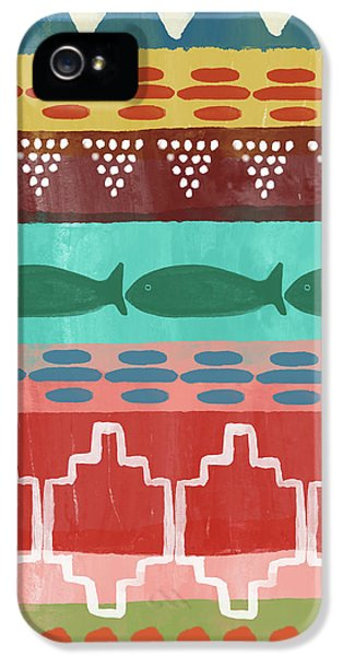 Peach iPhone 5s Case - Southwest With Fish- Art By Linda Woods by Linda Woods
