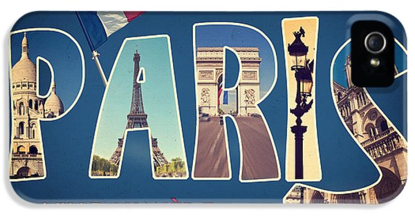 Souvernirs De Paris IPhone 5s Case by Delphimages Photo Creations