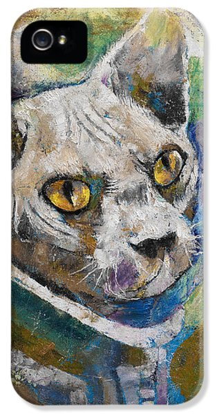 Space Cat IPhone 5s Case by Michael Creese