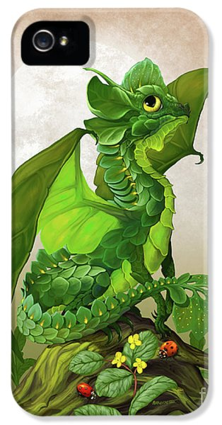 Spinach iPhone 5s Case - Spinach Dragon by Stanley Morrison