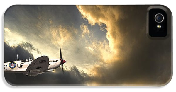 Airplane iPhone 5s Case - Spitfire by Meirion Matthias