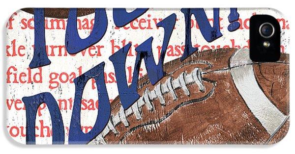 Sports Fan Football IPhone 5s Case by Debbie DeWitt