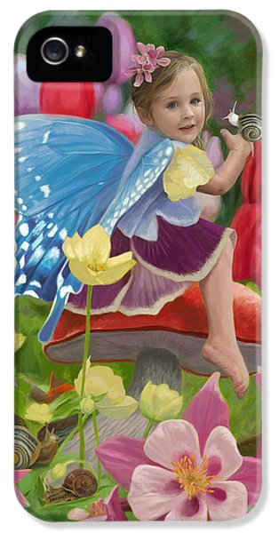Fairy iPhone 5s Case - Spring Fairy by Lucie Bilodeau