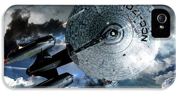 Star Trek Into Darkness, Original Mixed Media IPhone 5s Case by Thomas Pollart