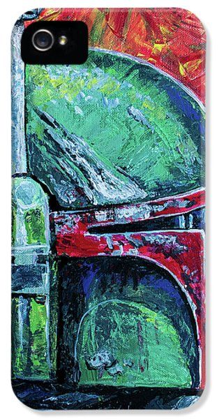 IPhone 5s Case featuring the painting Star Wars Helmet Series - Boba Fett by Aaron Spong