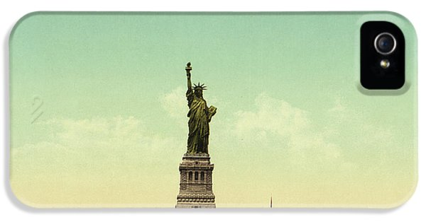 Statue Of Liberty, New York Harbor IPhone 5s Case by Unknown