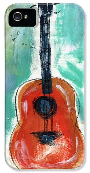Music iPhone 5s Case - Storyteller's Guitar by Linda Woods