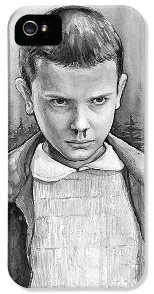 Science Fiction iPhone 5s Case - Stranger Things Fan Art Eleven by Olga Shvartsur