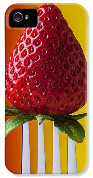 Strawberry On Fork IPhone 5s Case