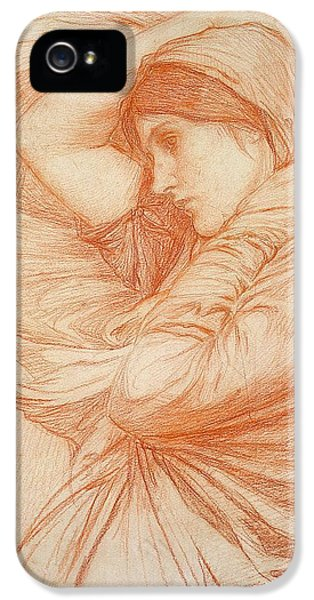 Etching iPhone 5s Case - Study For Boreas by John William Waterhouse