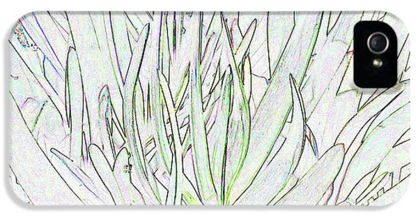 Succulent Leaves In High Key IPhone 5s Case by Nareeta Martin