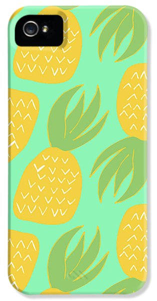 Summer Pineapples IPhone 5s Case by Allyson Johnson
