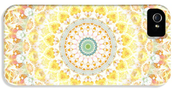 Sunflower iPhone 5s Case - Sunflower Mandala- Abstract Art By Linda Woods by Linda Woods