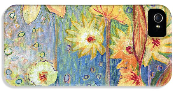 Sunflower iPhone 5s Case - Sunflower Tropics Part 3 by Jennifer Lommers