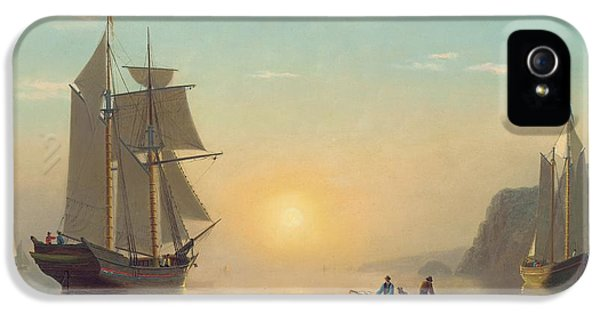 Boat iPhone 5s Case - Sunset Calm In The Bay Of Fundy by William Bradford