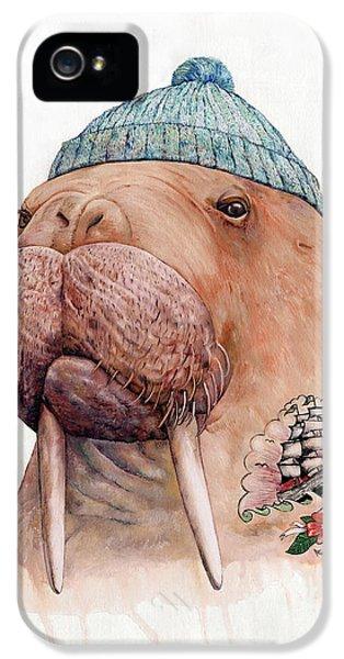Tattooed Walrus IPhone 5s Case by Animal Crew
