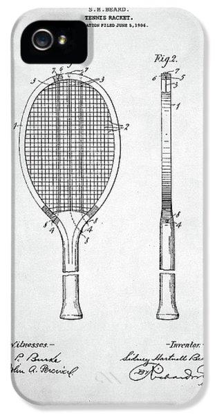 Serena Williams iPhone 5s Case - Tennis Racket Patent 1907 by Taylan Apukovska