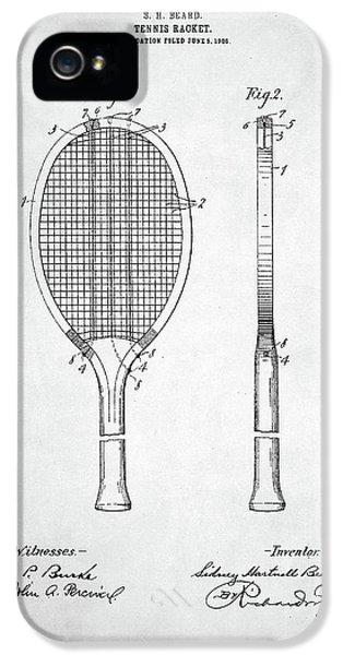 Tennis Racket Patent 1907 IPhone 5s Case by Taylan Apukovska