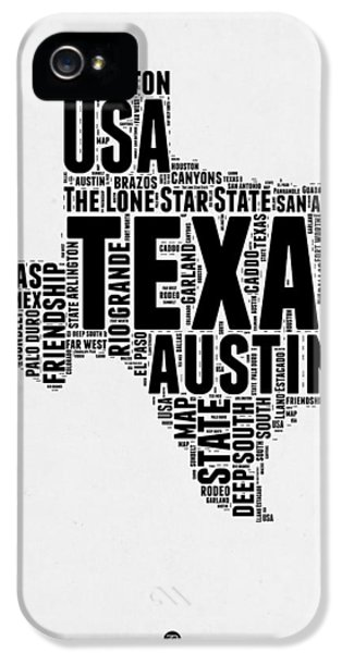 Austin iPhone 5s Case - Texas Word Cloud 2 by Naxart Studio
