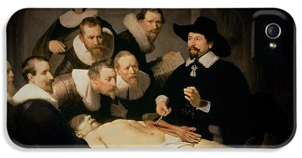 Doctor iPhone 5s Case - The Anatomy Lesson Of Doctor Nicolaes Tulp by Rembrandt Harmenszoon van Rijn