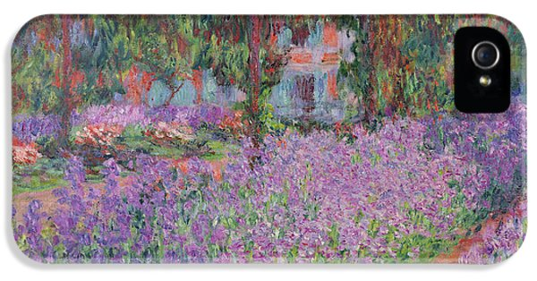 Impressionism iPhone 5s Case - The Artists Garden At Giverny by Claude Monet