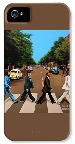 Rock And Roll iPhone 5s Case - The Beatles Abbey Road by Paul Meijering