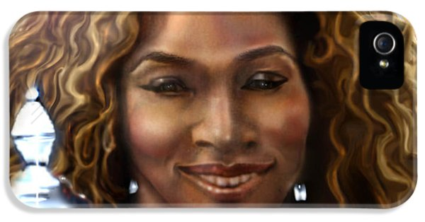 The Beauty Victory That Is Serena IPhone 5s Case by Reggie Duffie