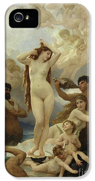 Dolphin iPhone 5s Case - The Birth Of Venus by William-Adolphe Bouguereau