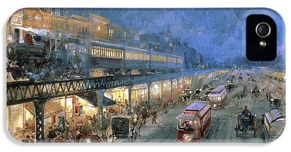 Train iPhone 5s Case - The Bowery At Night by William Sonntag