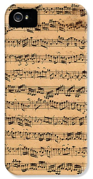 Music iPhone 5s Case - The Brandenburger Concertos by Johann Sebastian Bach