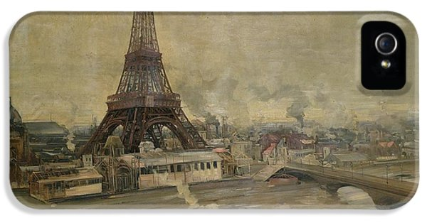 The Construction Of The Eiffel Tower IPhone 5s Case by Paul Louis Delance