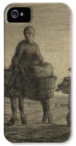 The Departure For Work IPhone 5s Case by Jean-Francois Millet