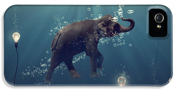 Elephant iPhone 5s Case - The Dreamer by Martine Roch