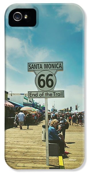 Santa Monica iPhone 5s Case - The End Of Sixty-six by Laurie Search