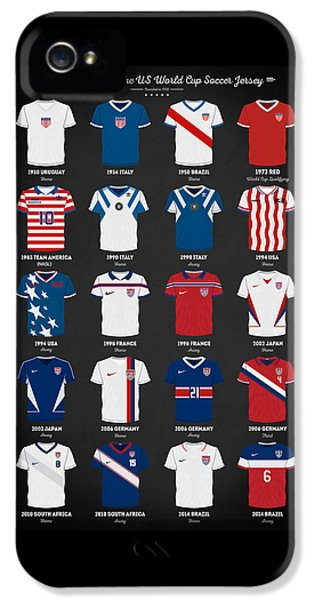 The Evolution Of The Us World Cup Soccer Jersey IPhone 5s Case by Taylan Apukovska