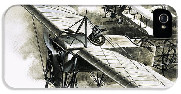 The First Reconnaissance Flight By The Rfc IPhone 5s Case by Wilf Hardy