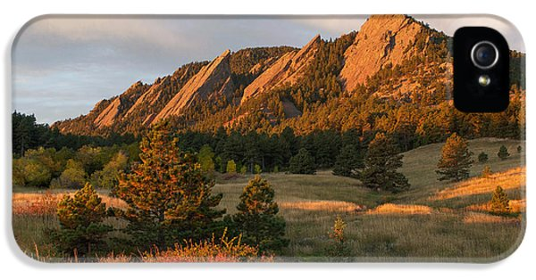 The Flatirons - Autumn IPhone 5s Case by Aaron Spong