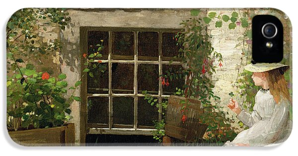 Garden Snake iPhone 5s Case - The Four Leaf Clover by Winslow Homer