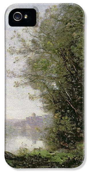 The Goatherd Beside The Water  IPhone 5s Case by Jean Baptiste Camille Corot