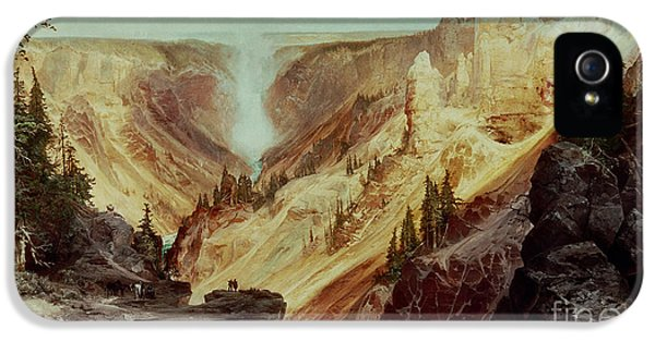 Grand Canyon iPhone 5s Case - The Grand Canyon Of The Yellowstone by Thomas Moran