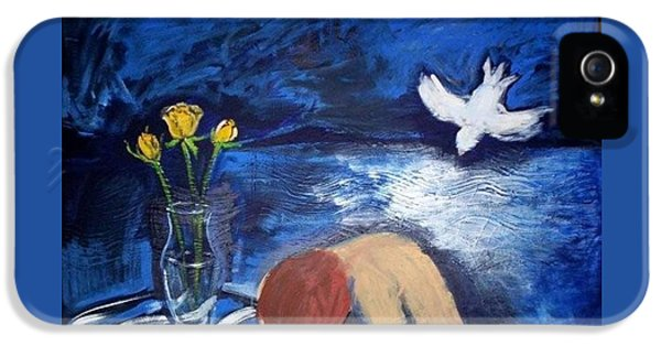 IPhone 5s Case featuring the painting The Healing by Winsome Gunning