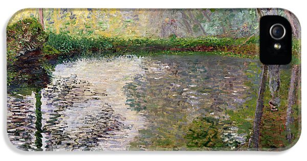 Impressionism iPhone 5s Case - The Lake At Montgeron by Claude Monet