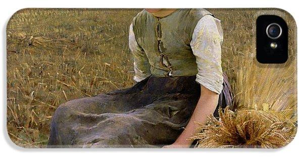 Rural Scenes iPhone 5s Case - The Little Gleaner by Hugo Salmson