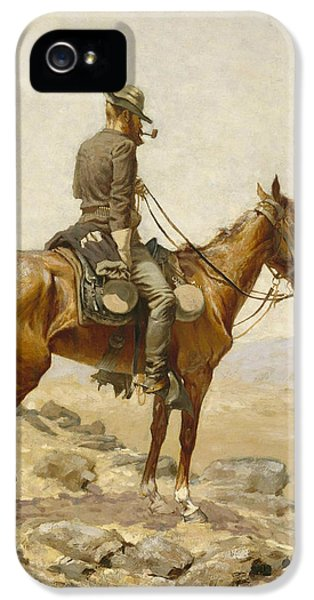Horse iPhone 5s Case - The Lookout by Frederic Remington