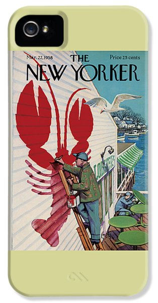 The New Yorker Cover - March 22nd, 1958 IPhone 5s Case