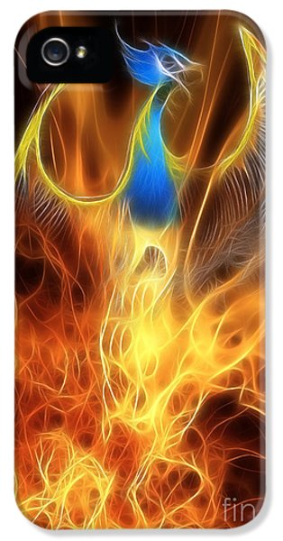 Dragon iPhone 5s Case - The Phoenix Rises From The Ashes by John Edwards