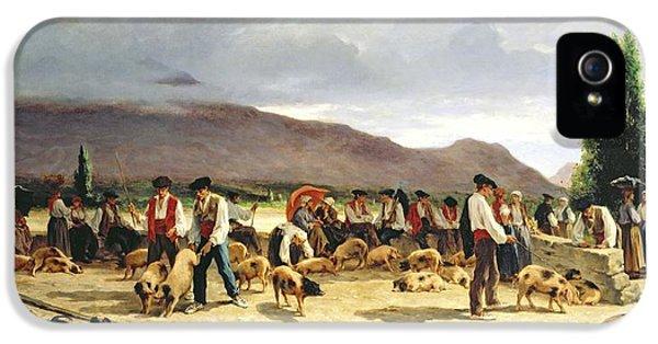 The Pig Market IPhone 5s Case by Pierre Edmond Alexandre Hedouin