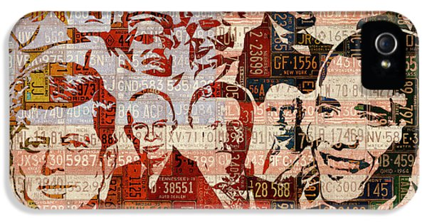 The Presidents Past Recycled Vintage License Plate Art Collage IPhone 5s Case