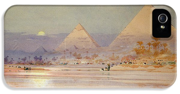 The Pyramids At Dusk IPhone 5s Case by Augustus Osborne Lamplough